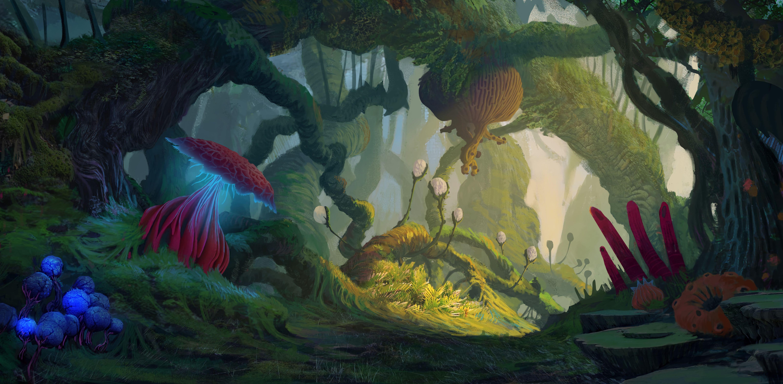 118605 descargar fondo de pantalla Arte, Extranjero, Fantástico, Selva, Jungla, Criaturas: protectores de pantalla e imágenes gratis