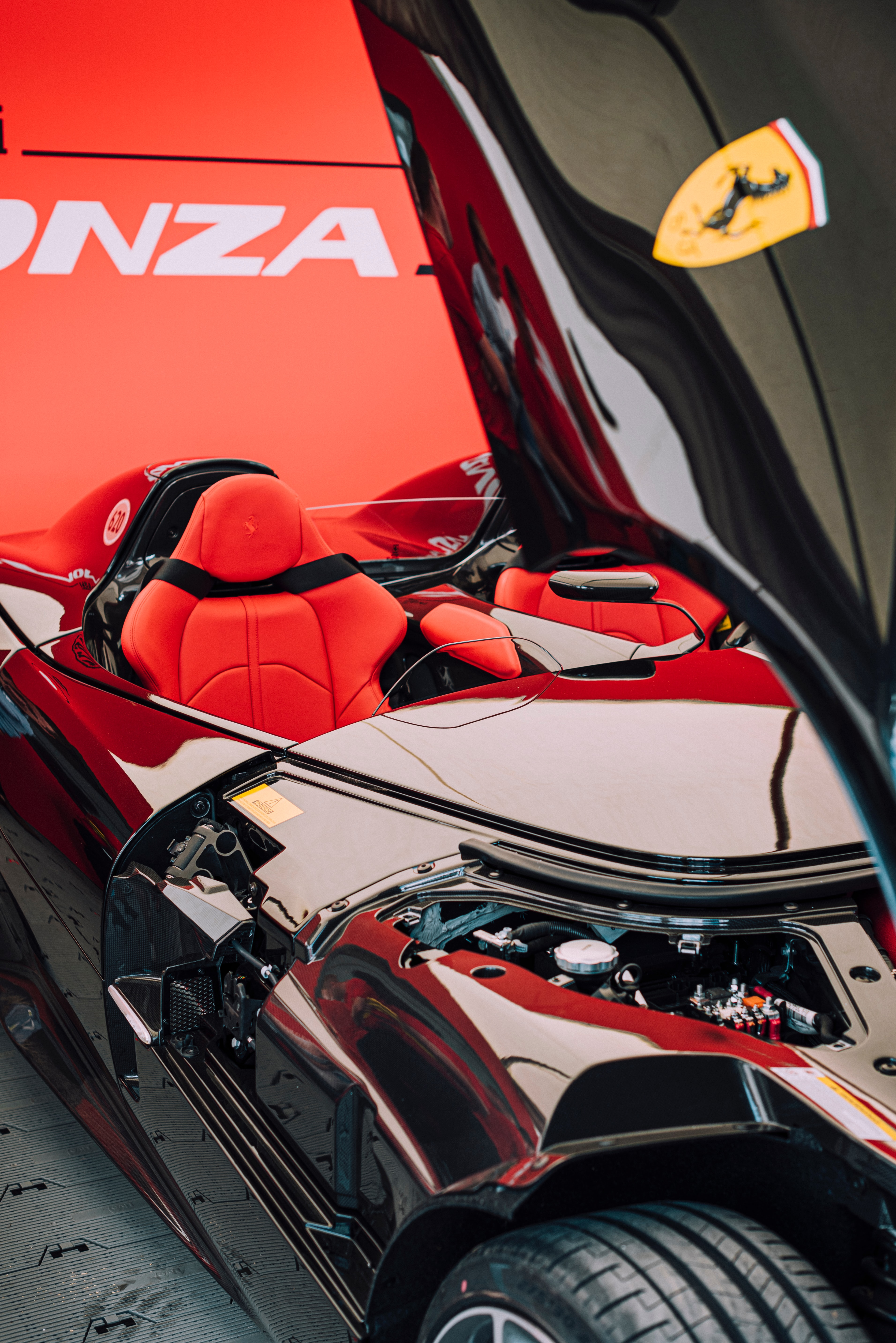 106254 Screensavers and Wallpapers Races for phone. Download Sports, Races, Ferrari, Cars, Car, Sports Car, Ferrari Monza Sp2 pictures for free