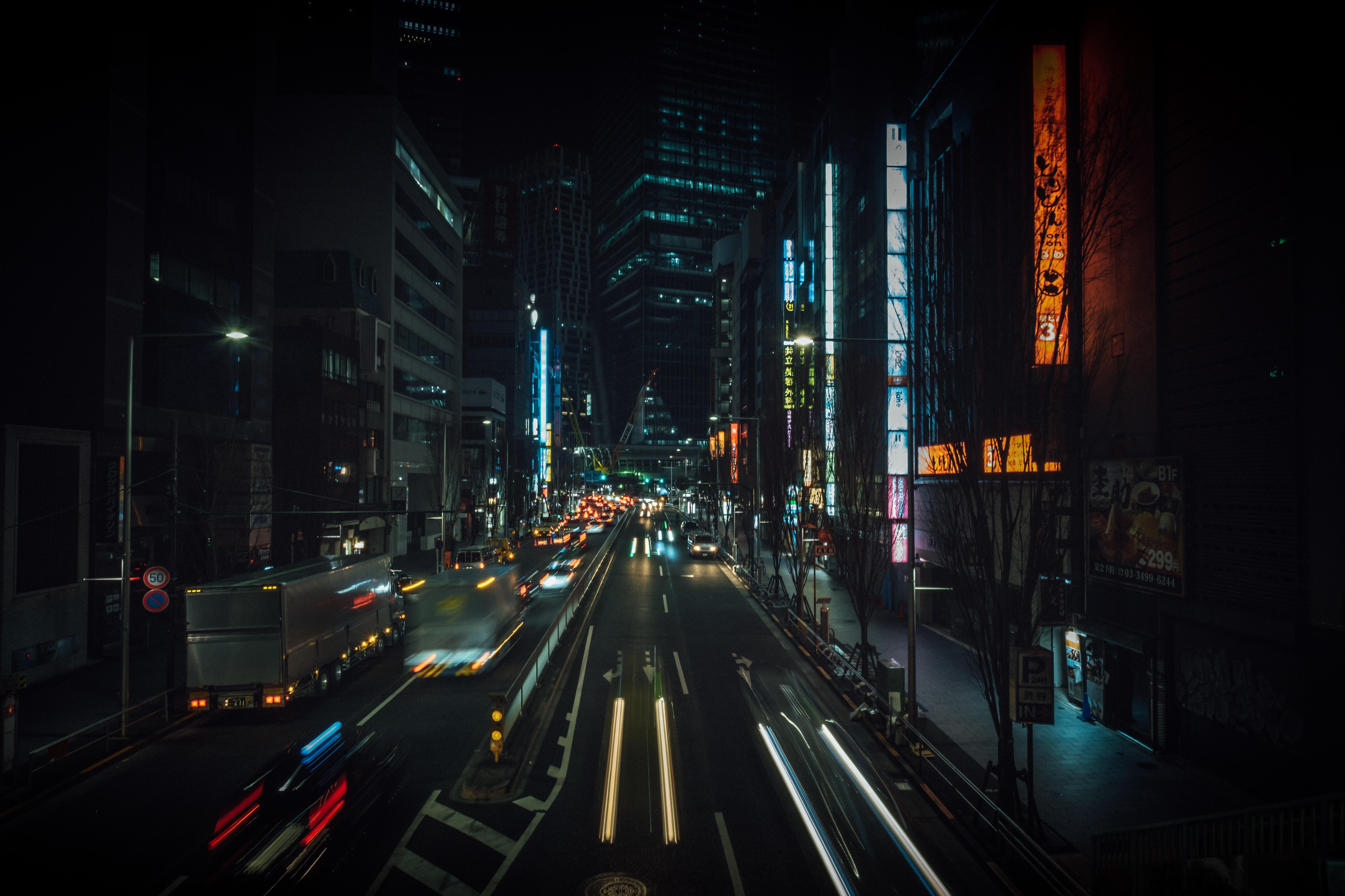 155178 fond d'écran 720x1280 sur votre téléphone gratuitement, téléchargez des images Villes, Imeuble, Bâtiment, Circulation, Mouvement, Ville De Nuit, Lumières De La Ville, Japon, Rue, Tokyo 720x1280 sur votre mobile