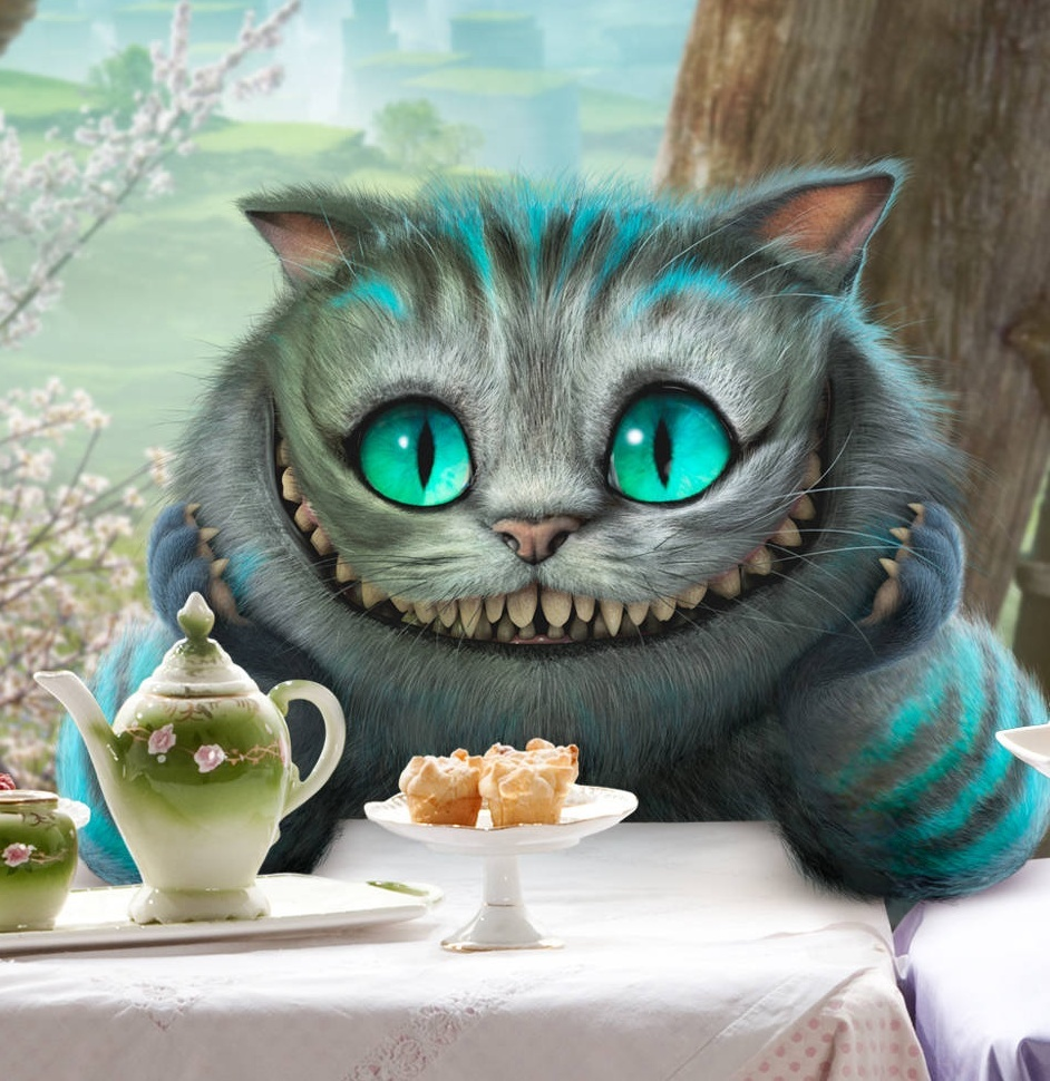 Download mobile wallpaper Cinema, Alice In Wonderland, Animals, Cats for free.