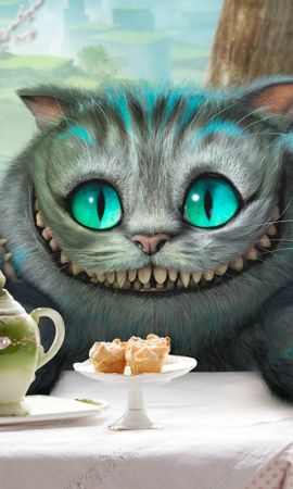 14481 download wallpaper Cinema, Animals, Cats, Alice In Wonderland screensavers and pictures for free