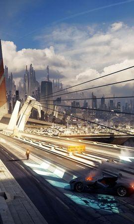 20997 скачать обои Пейзаж, Города, Мосты, Фэнтези, Арт - заставки и картинки бесплатно