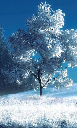 72119 скачать обои Зима, Природа, Снег, Скамейка, Деревья, Пейзаж - заставки и картинки бесплатно
