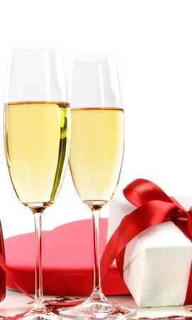 32859 скачать обои Праздники, Еда, Вино, День Святого Валентина (Valentine's Day), Напитки - заставки и картинки бесплатно