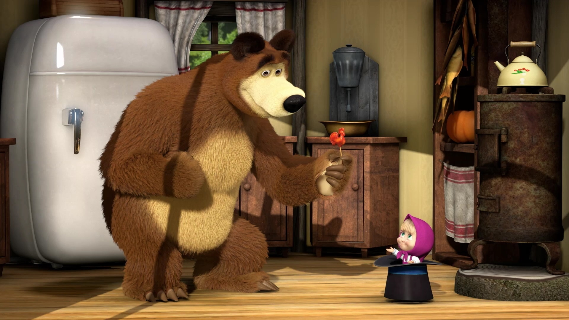 23583 download wallpaper Cartoon, Masha And The Bear screensavers and pictures for free
