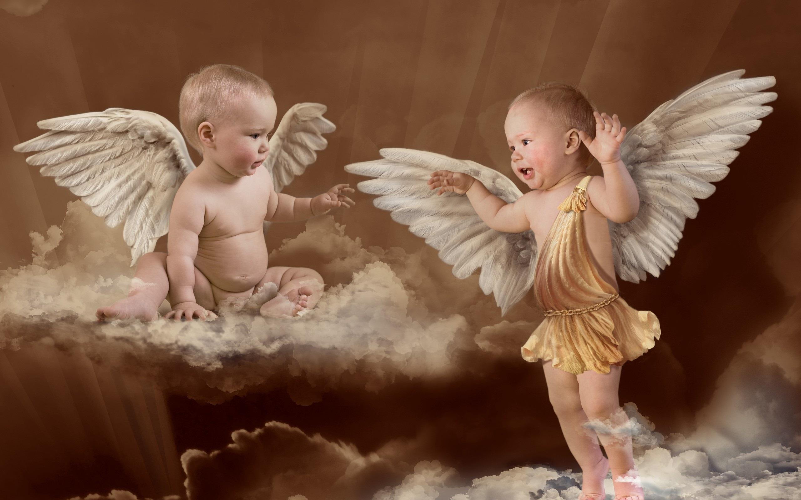 13039 Hintergrundbild herunterladen Menschen, Kinder, Fotokunst, Engel - Bildschirmschoner und Bilder kostenlos