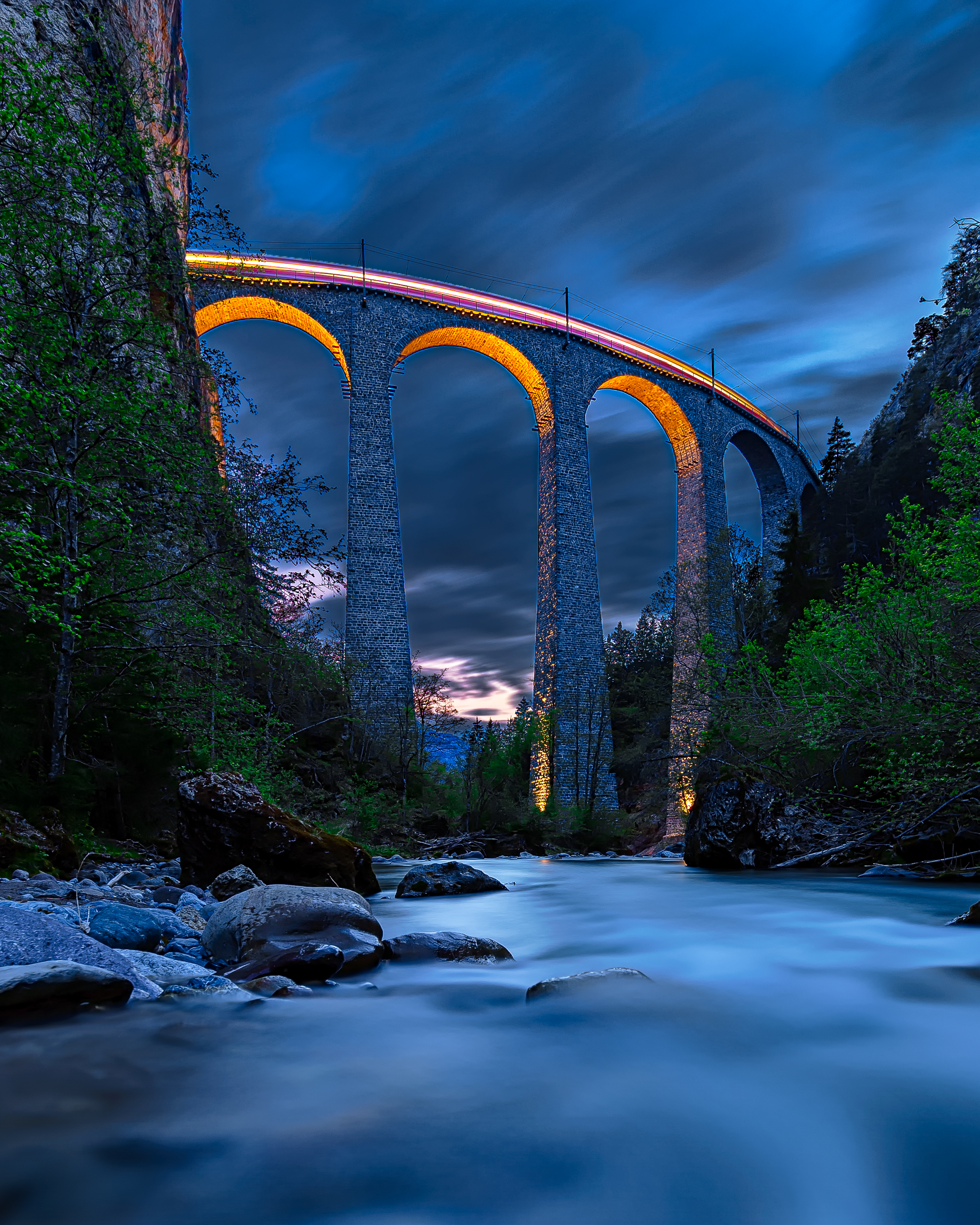 93767 Screensavers and Wallpapers Bridge for phone. Download Nature, Rivers, Night, Rocks, Height, Bridge pictures for free