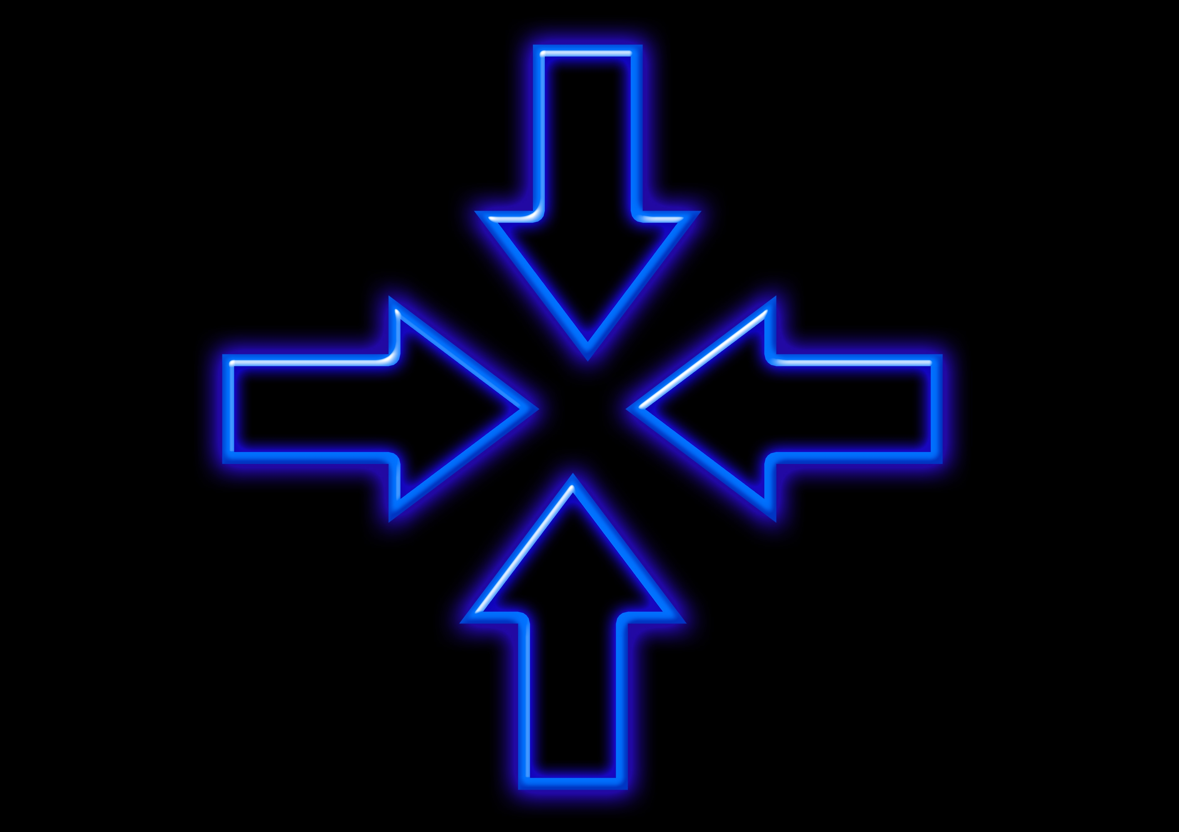 138705 download wallpaper Dark, Arrows, Neon, Backlight, Illumination screensavers and pictures for free