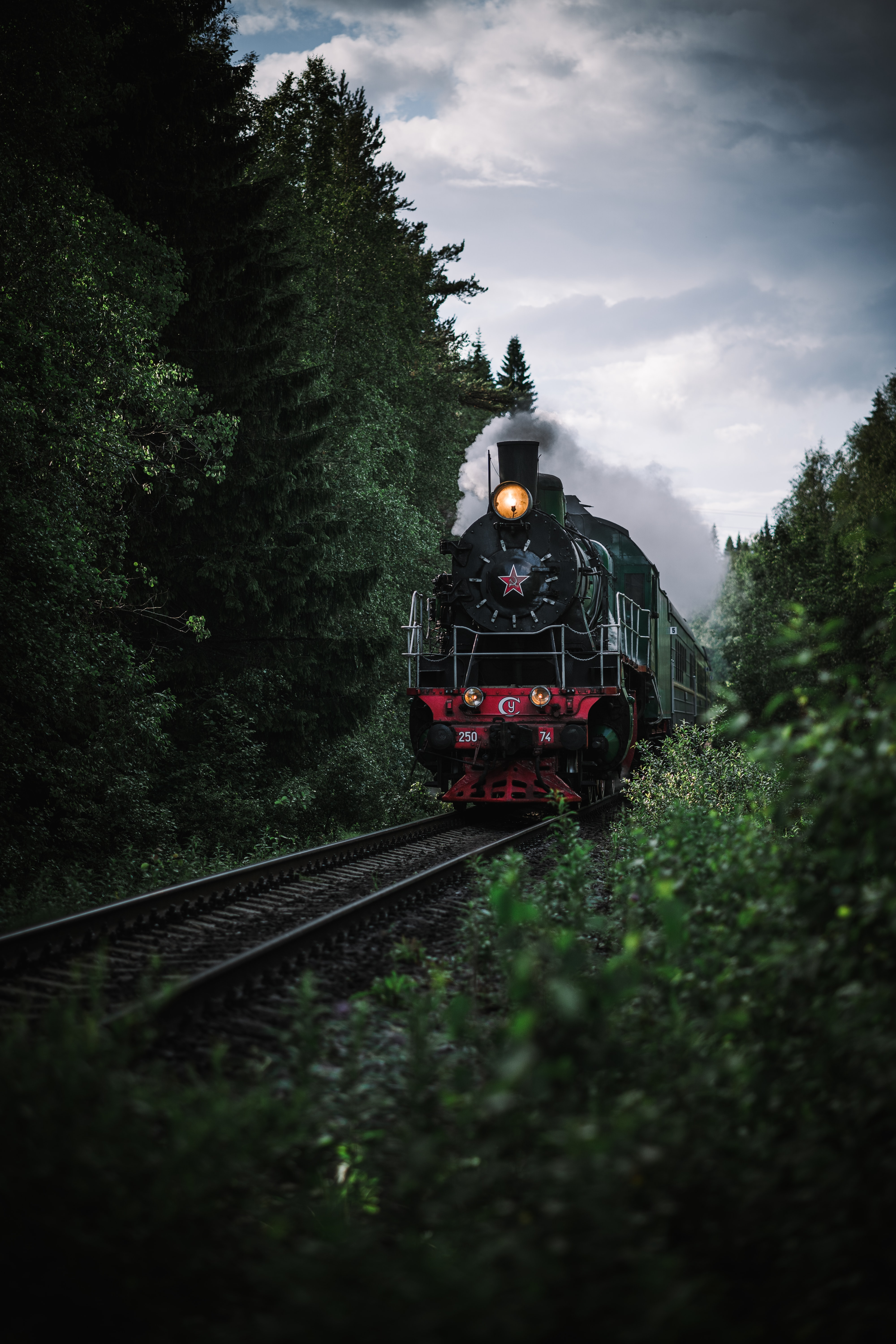 117276 Screensavers and Wallpapers Train for phone. Download Smoke, Miscellanea, Miscellaneous, Railway, Rails, Train pictures for free