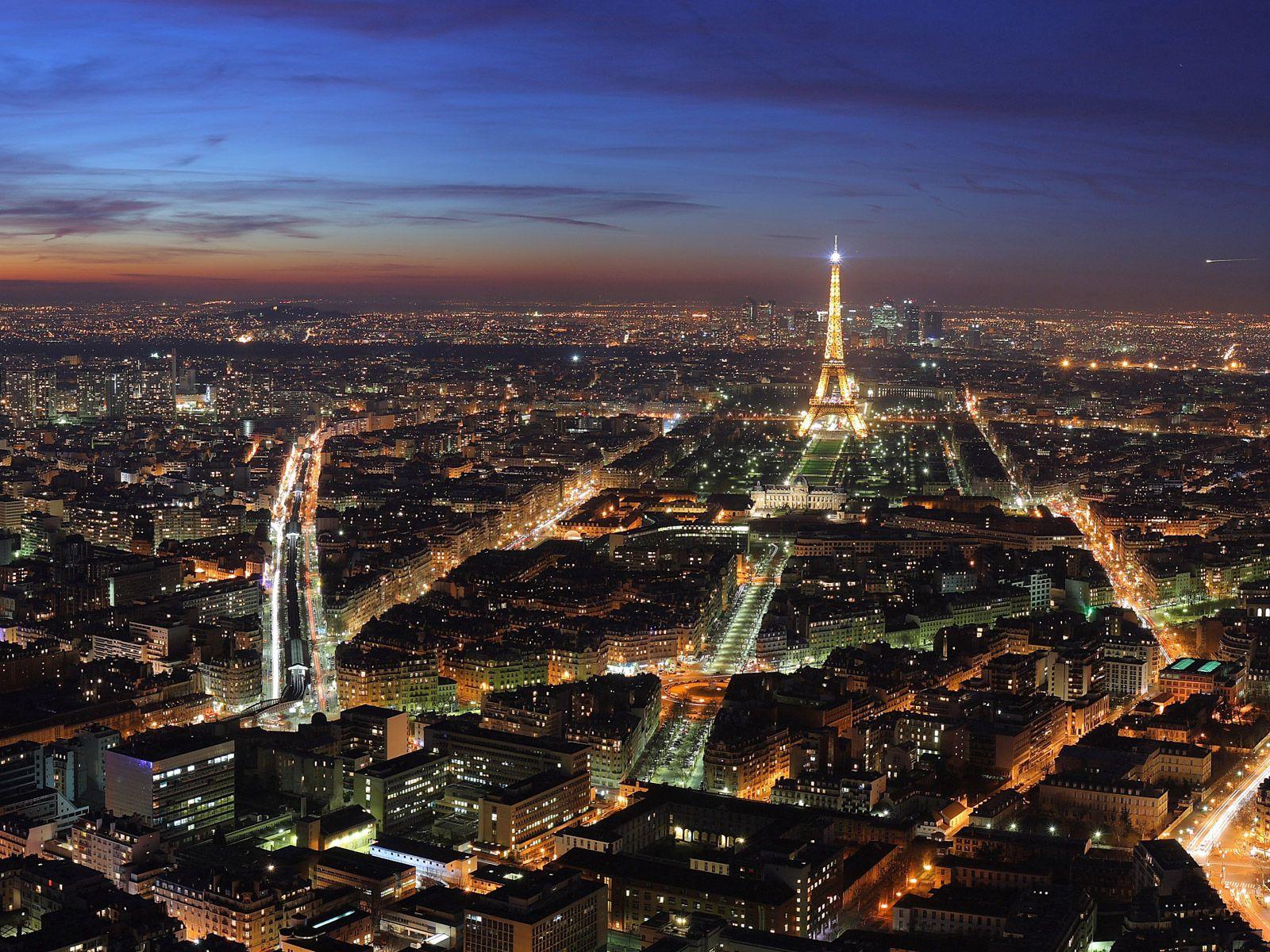 54590 télécharger le fond d'écran Paris, France, Lumières De La Ville, Nuit, Vue D'en-Haut, Vue D'En Haut, Villes, Tour Eiffel - économiseurs d'écran et images gratuitement