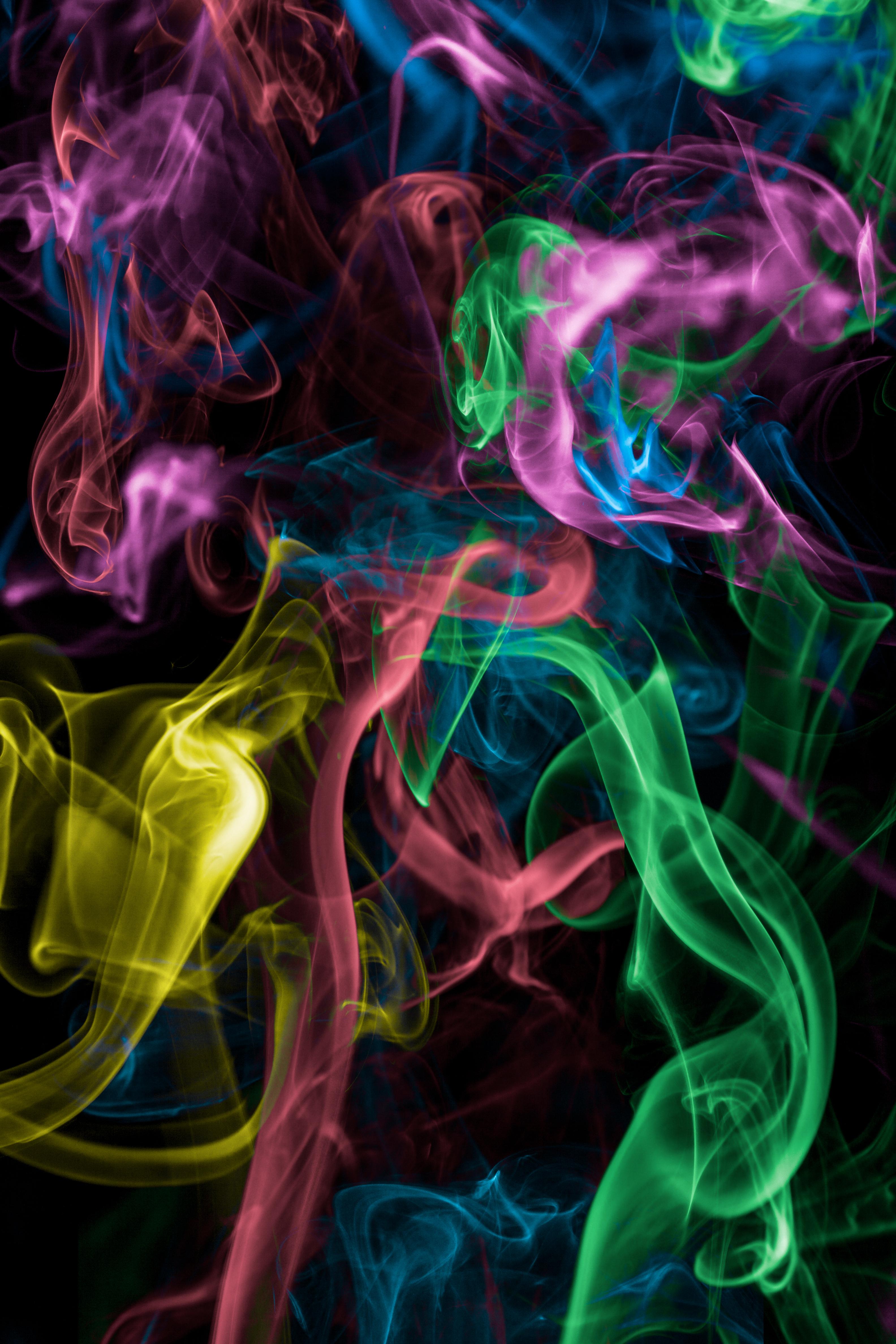 52969 télécharger le fond d'écran Abstrait, Fumée Colorée, Multicolore, Hétéroclite, Sombre, Fumée - économiseurs d'écran et images gratuitement