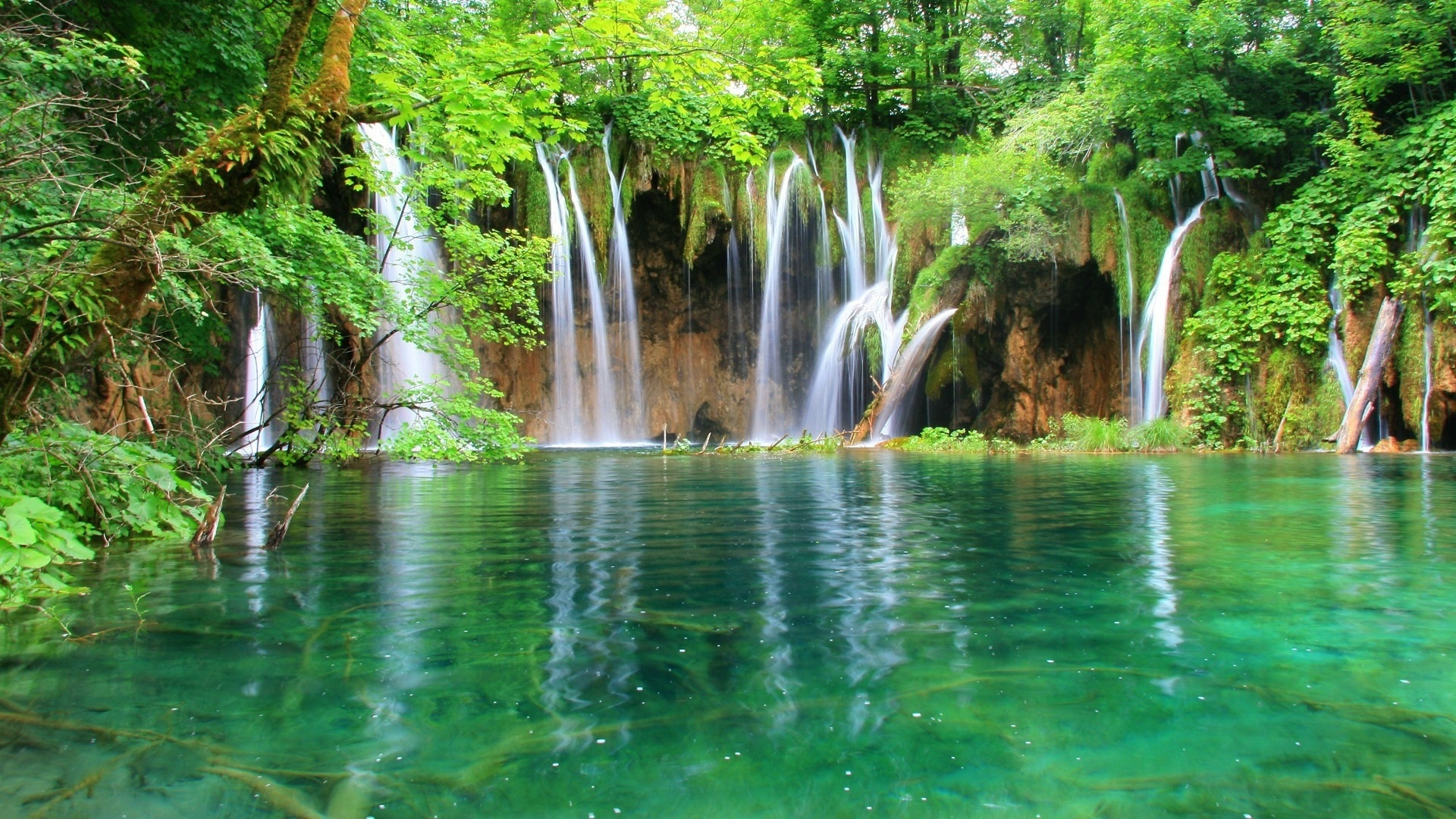 35069 download wallpaper Landscape, Rivers, Waterfalls screensavers and pictures for free