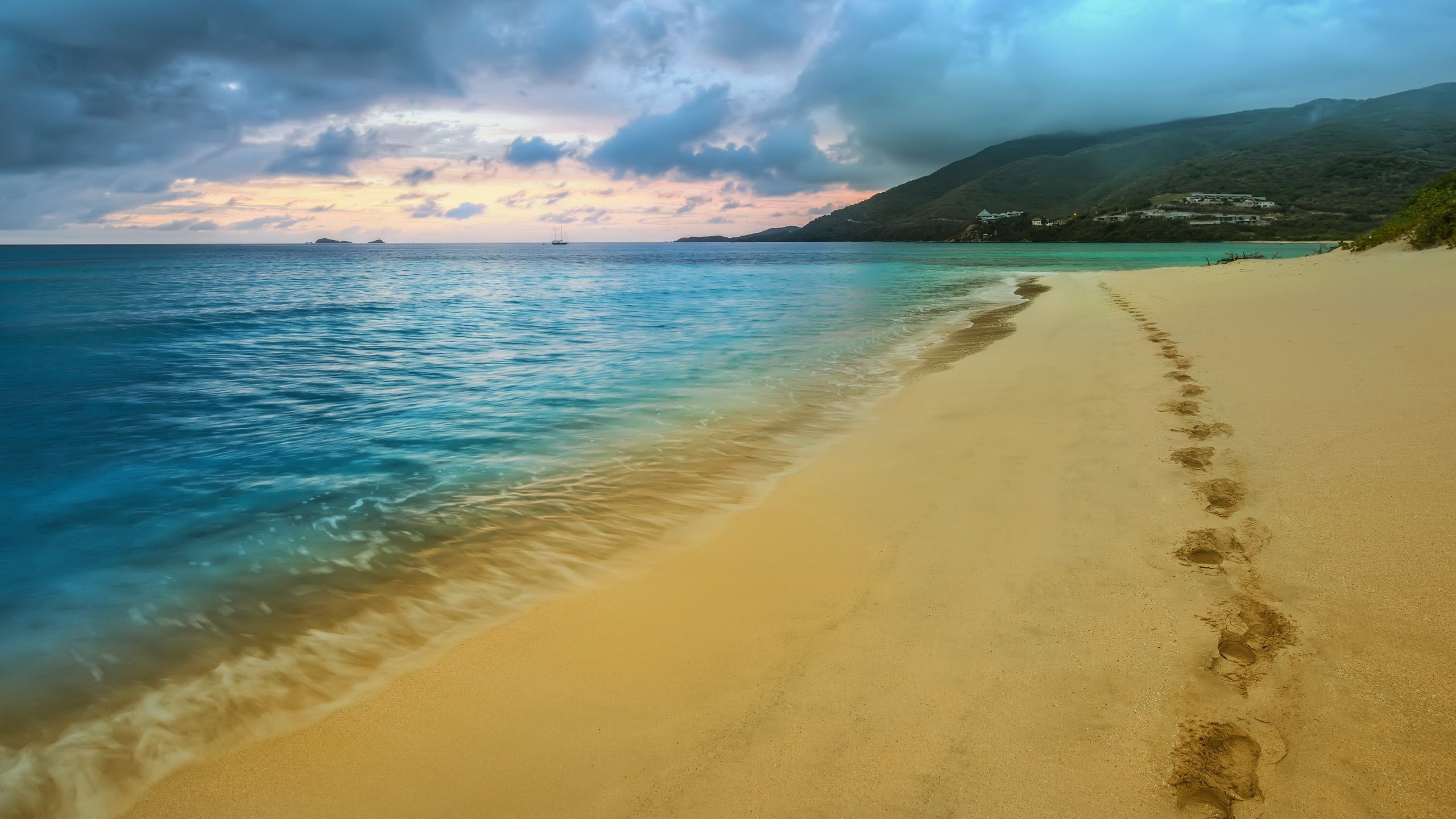 109703 download wallpaper Nature, Sea, Beach, Sand, Coast, Traces, Cloud, Pits screensavers and pictures for free
