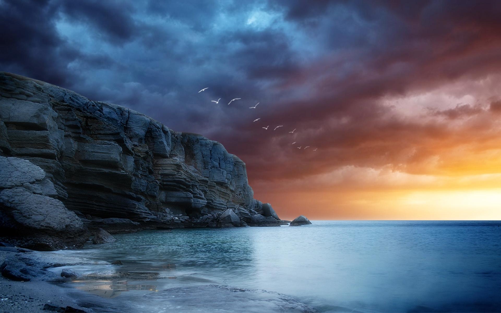 30157 скачать обои Пейзаж, Горы, Море - заставки и картинки бесплатно