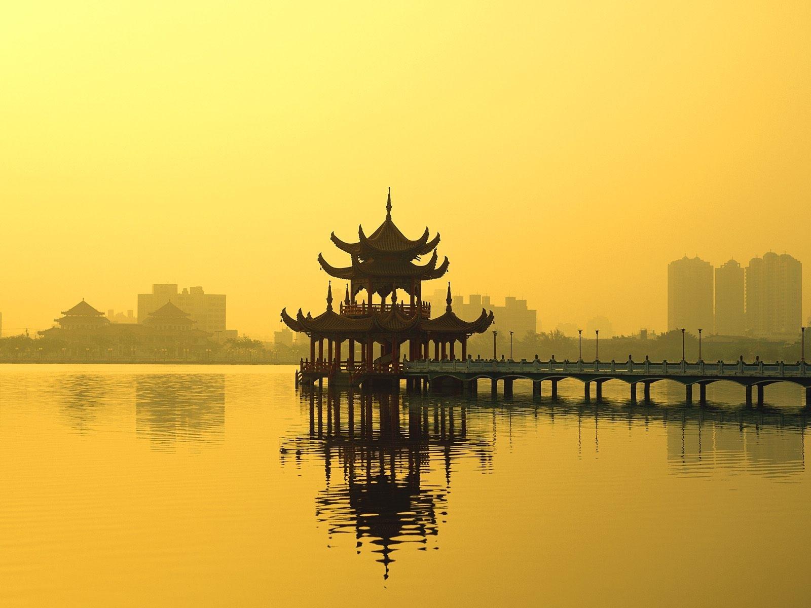 7666 скачать обои Река, Мосты, Архитектура, Азия - заставки и картинки бесплатно