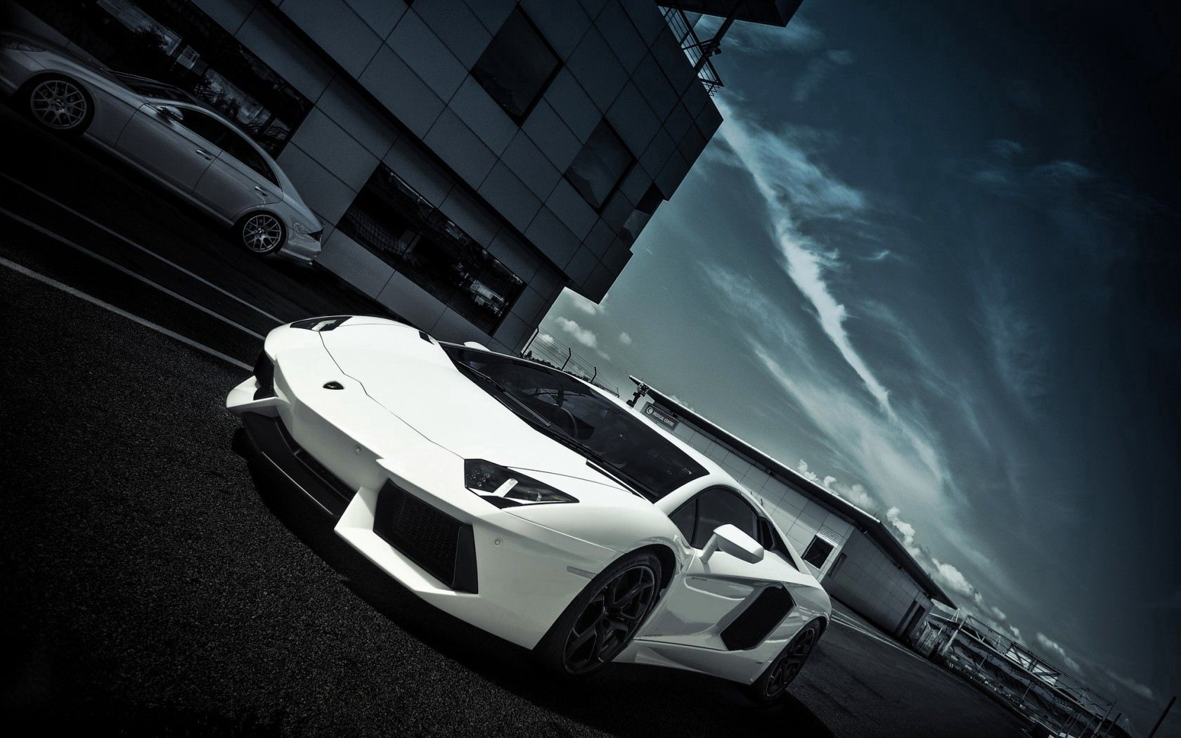 118115 Screensavers and Wallpapers Windows for phone. Download Windows, Sky, Clouds, Lamborghini, Cars, Building, Road, Markup, Side View, Aventador pictures for free