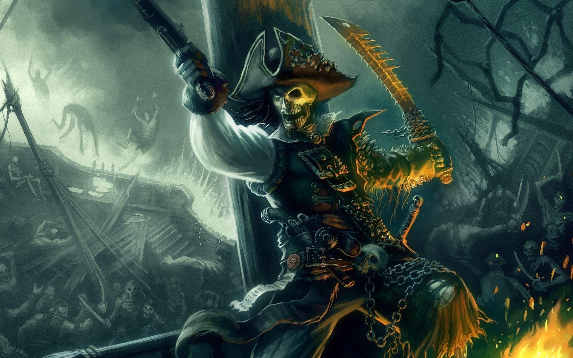42331 скачать обои Пираты, Рисунки - заставки и картинки бесплатно