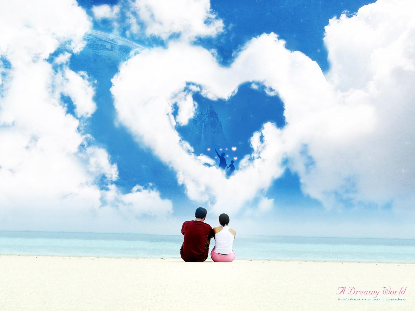7011 скачать обои Люди, Небо, Сердца, Любовь, День Святого Валентина (Valentine's Day) - заставки и картинки бесплатно