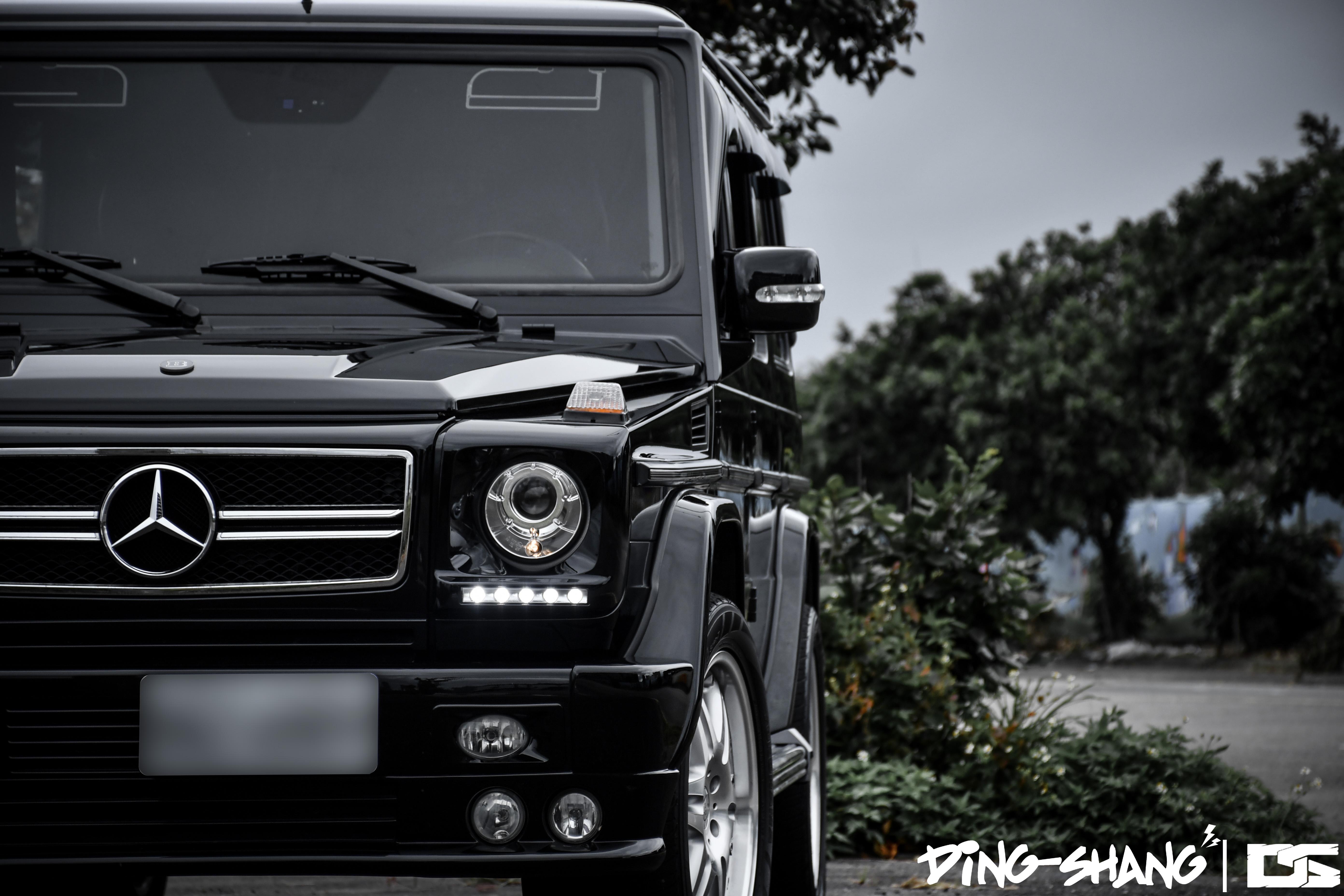 92211 Заставки и Обои Вид Спереди на телефон. Скачать Mercedes-Benz G500, Brabus, Тачки (Cars), Черный, Внедорожник, Вид Спереди, Роскошный картинки бесплатно