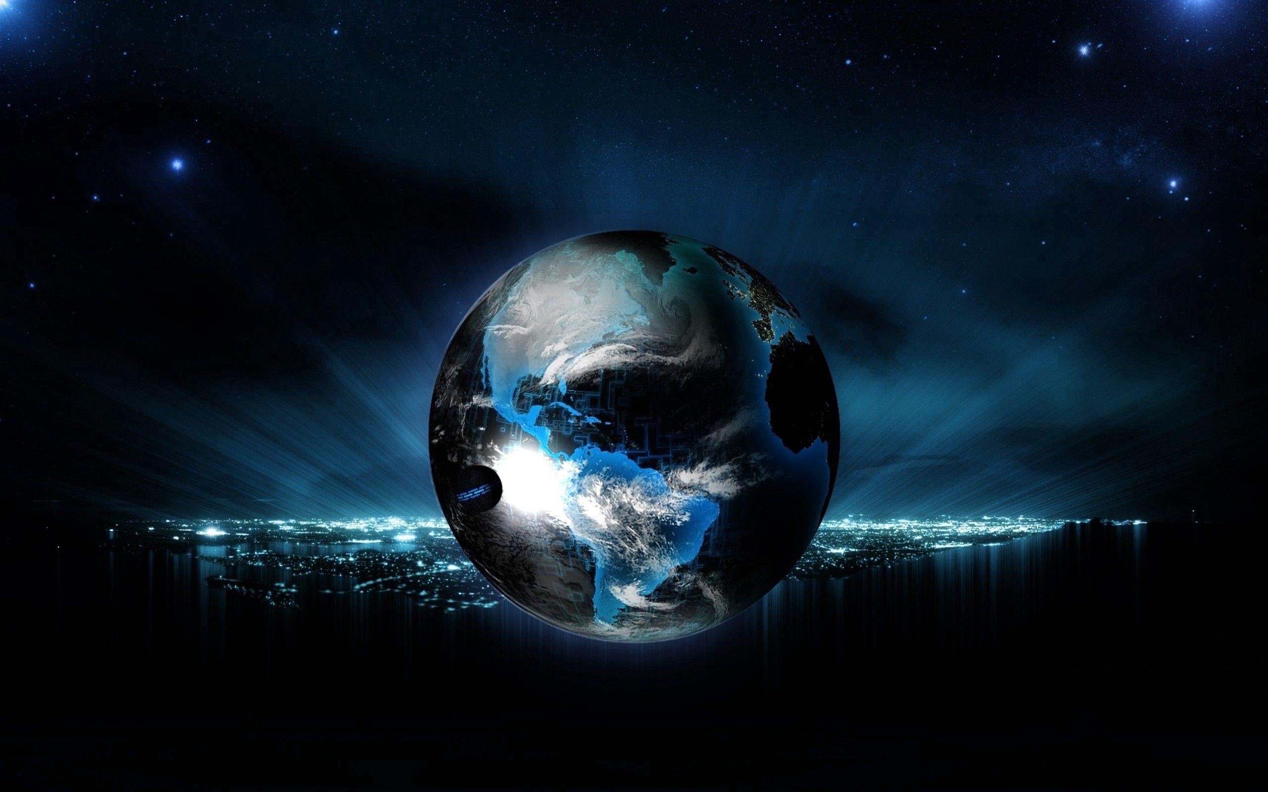 56974 скачать обои Абстракция, Шар, Глобус, Планета, Свет, Неон, Фон - заставки и картинки бесплатно