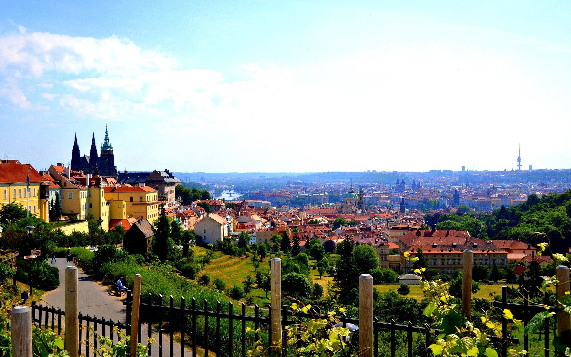 63953 Screensavers and Wallpapers Handsomely for phone. Download Cities, Nature, Building, Garden, Prague, Handsomely, It's Beautiful pictures for free