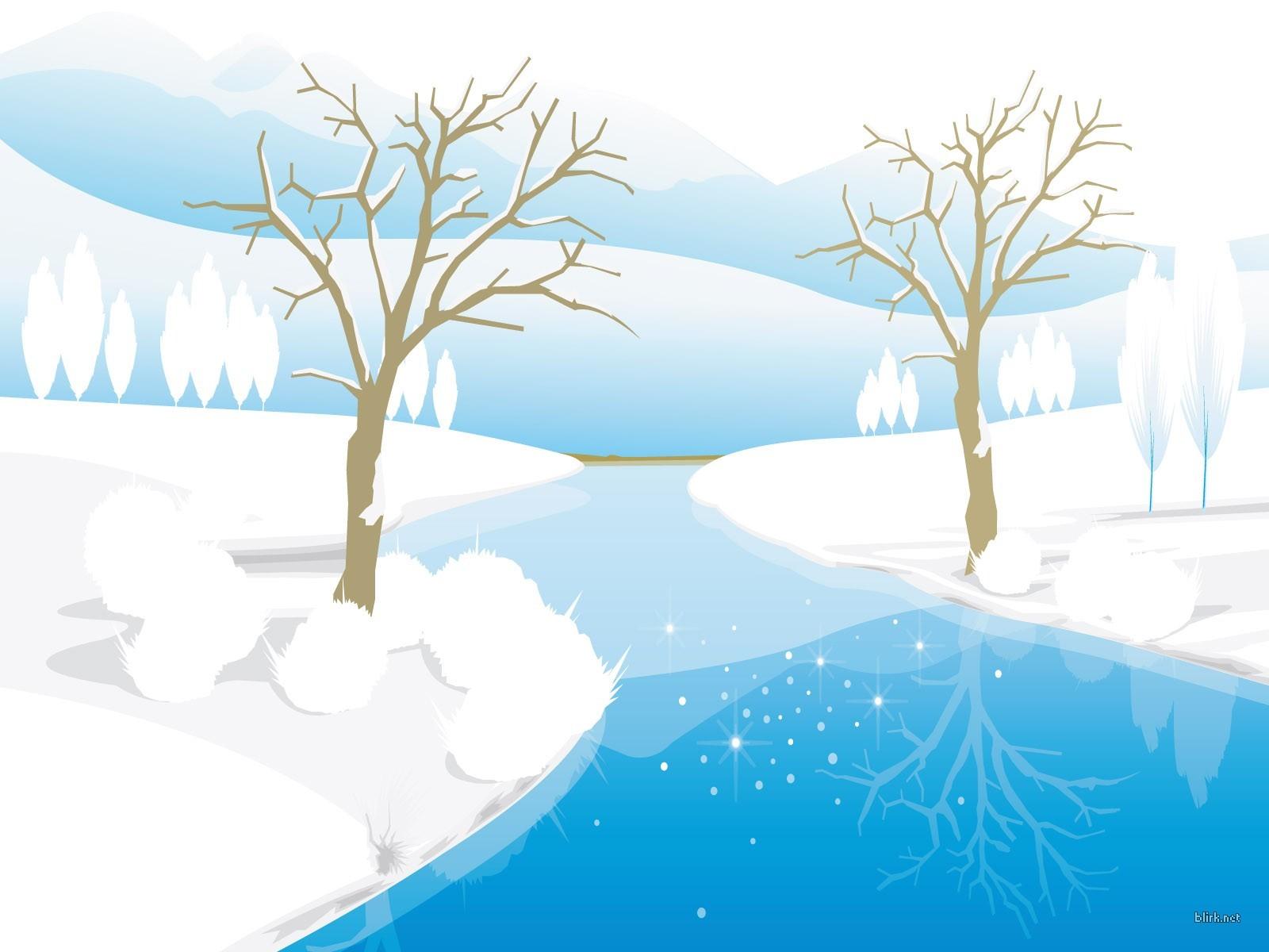 13578 скачать обои Пейзаж, Зима, Река, Деревья, Рисунки - заставки и картинки бесплатно