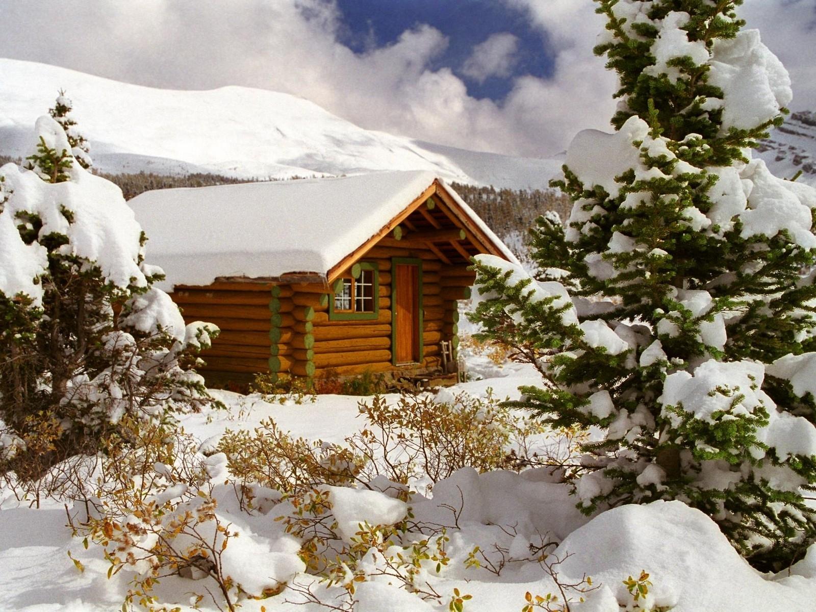 9044 скачать обои Пейзаж, Зима, Дома, Елки - заставки и картинки бесплатно