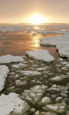 13503 скачать обои Пейзаж, Море, Лед, Снег - заставки и картинки бесплатно