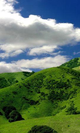 27835 скачать обои Пейзаж, Деревья, Трава, Горы, Облака - заставки и картинки бесплатно