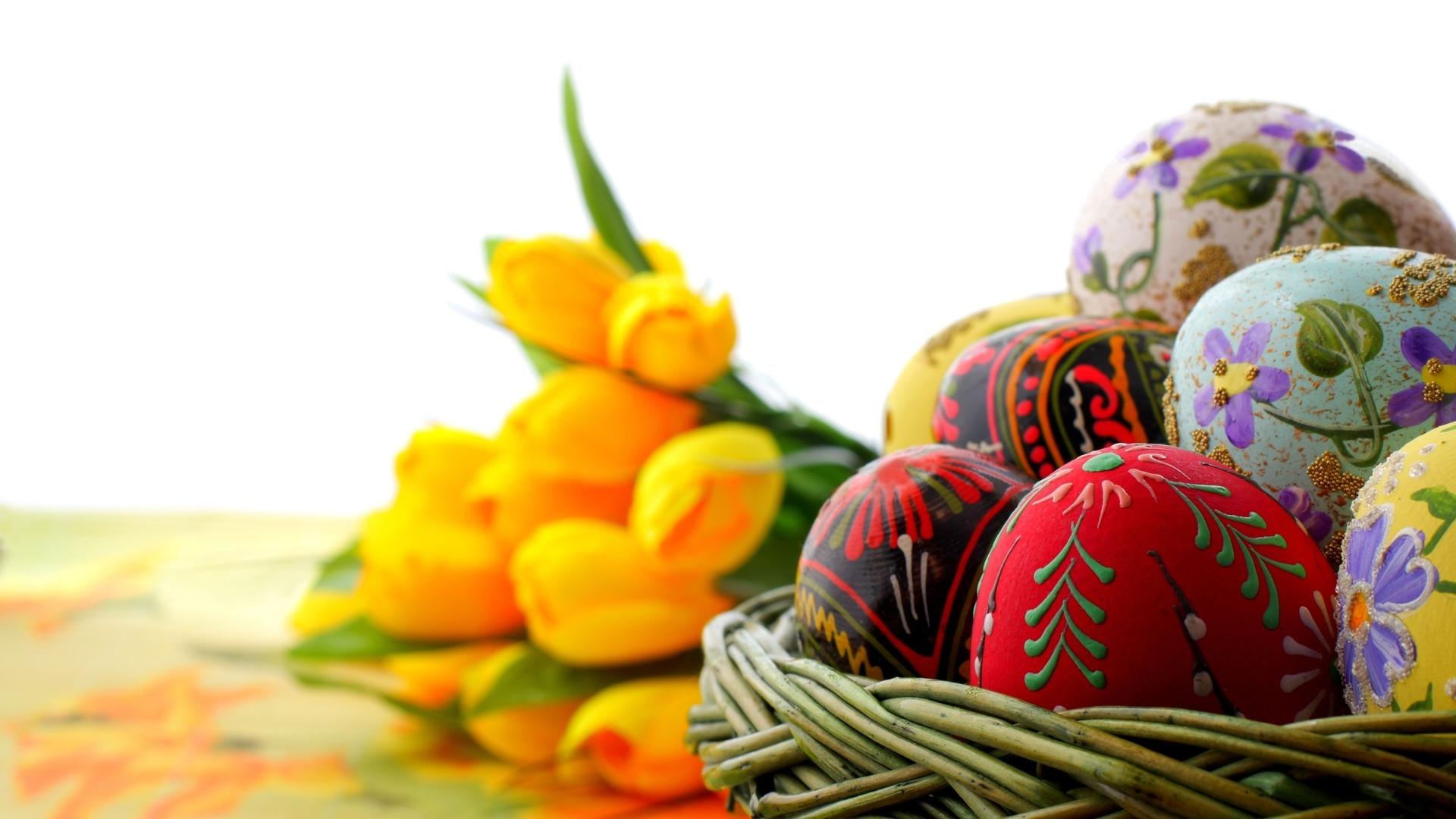 22195 descargar fondo de pantalla Vacaciones, Flores, Huevos, Pascua: protectores de pantalla e imágenes gratis