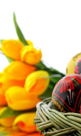 22195 download wallpaper Holidays, Flowers, Eggs, Easter screensavers and pictures for free