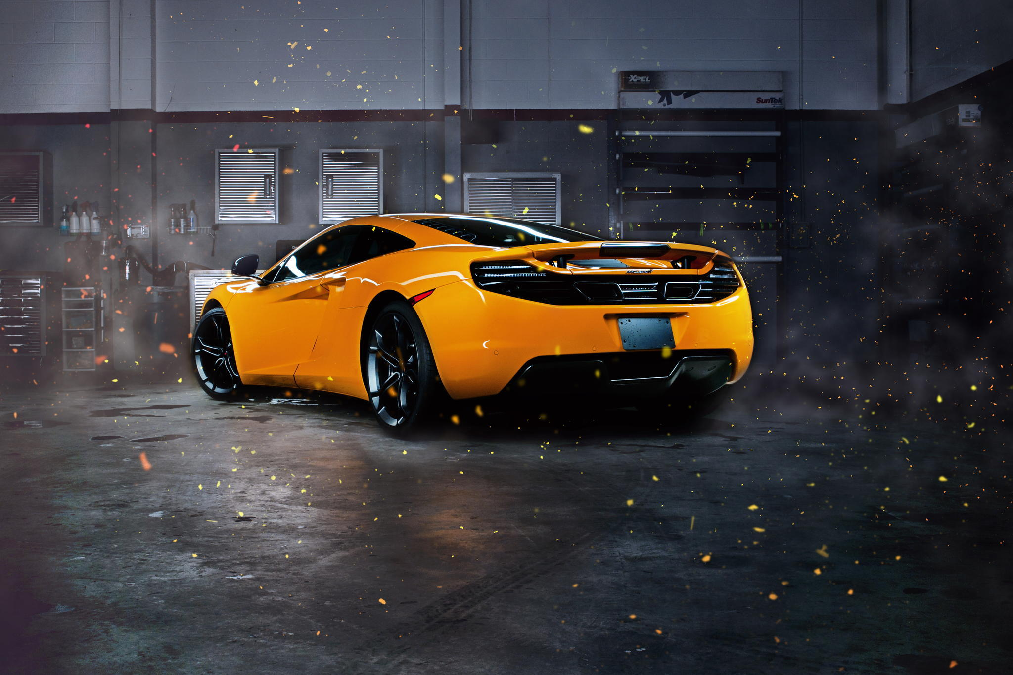 61751 Screensavers and Wallpapers Sparks for phone. Download Mclaren, Cars, Sparks, Back View, Rear View, Mp4-12C pictures for free