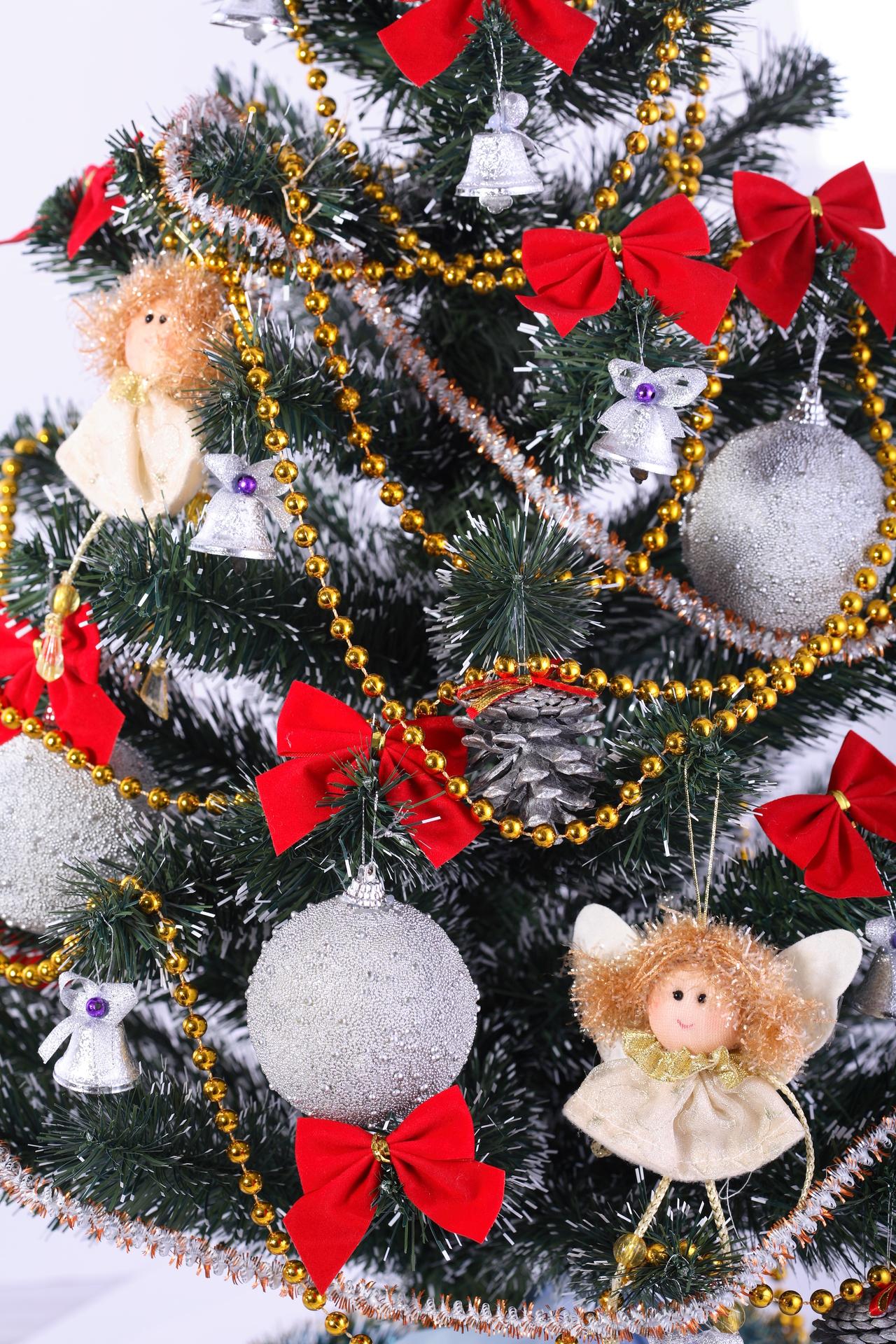 14034 скачать обои Праздники, Фон, Новый Год (New Year), Игрушки, Елки, Рождество (Christmas, Xmas) - заставки и картинки бесплатно