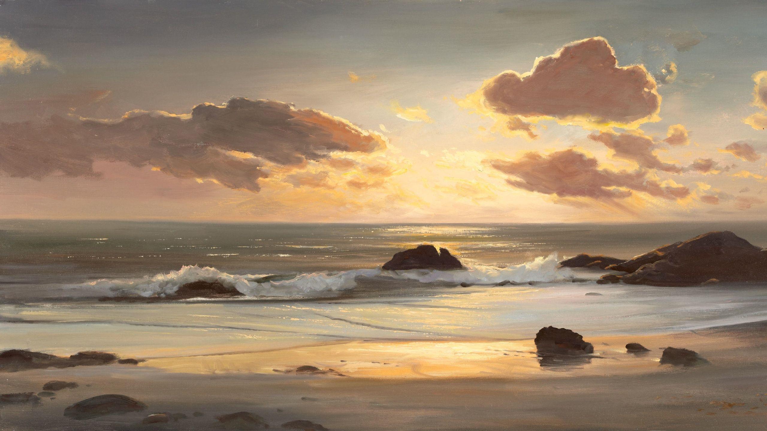 63999 免費下載壁紙 性质, 海, 支撑, 海岸, 海洋, 绘画, 艺术, 海滩, 景观 屏保和圖片
