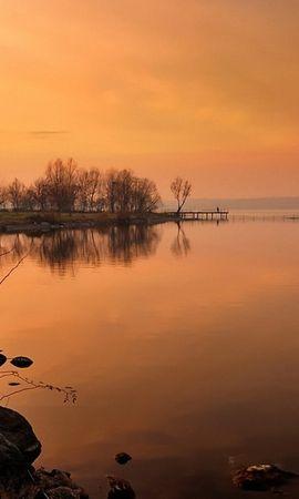 22183 скачать обои Пейзаж, Река, Деревья, Закат - заставки и картинки бесплатно