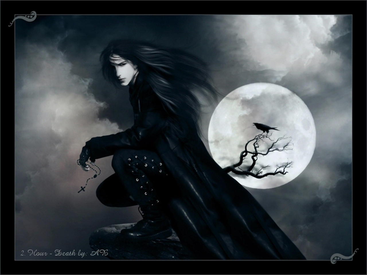 19089 скачать обои Люди, Мужчины, Луна, Рисунки, Вампиры (Vampires) - заставки и картинки бесплатно