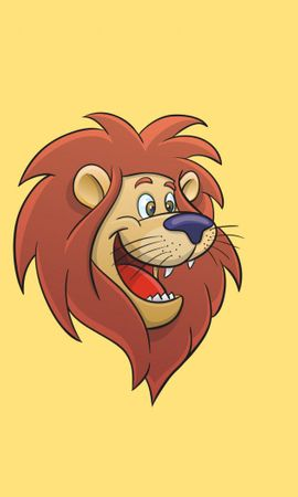 74726 download wallpaper Vector, Lion, Cartoon, Animated, Art screensavers and pictures for free