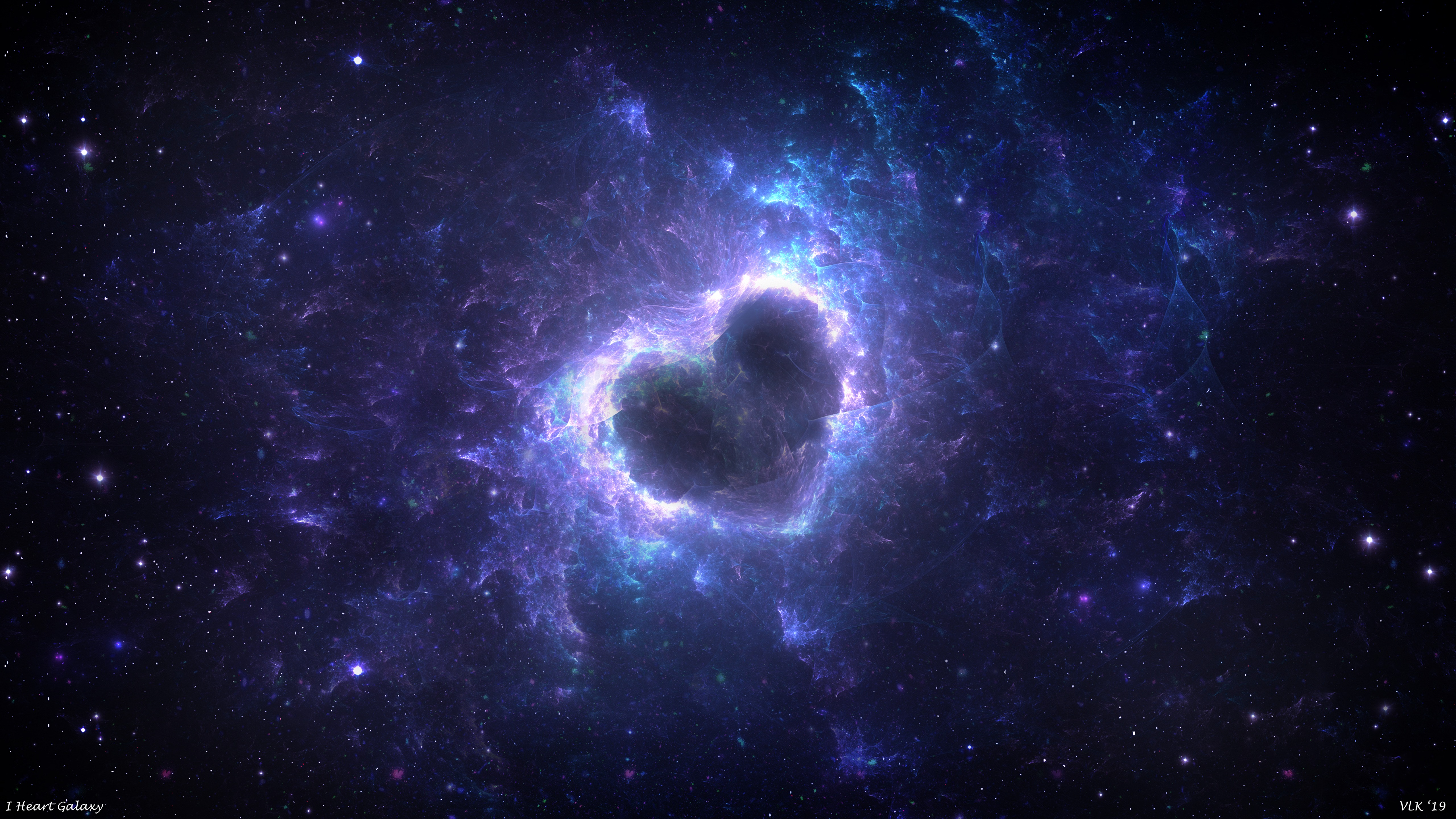 61581 download wallpaper Love, Nebula, Heart, Glow, Universe, Energy screensavers and pictures for free