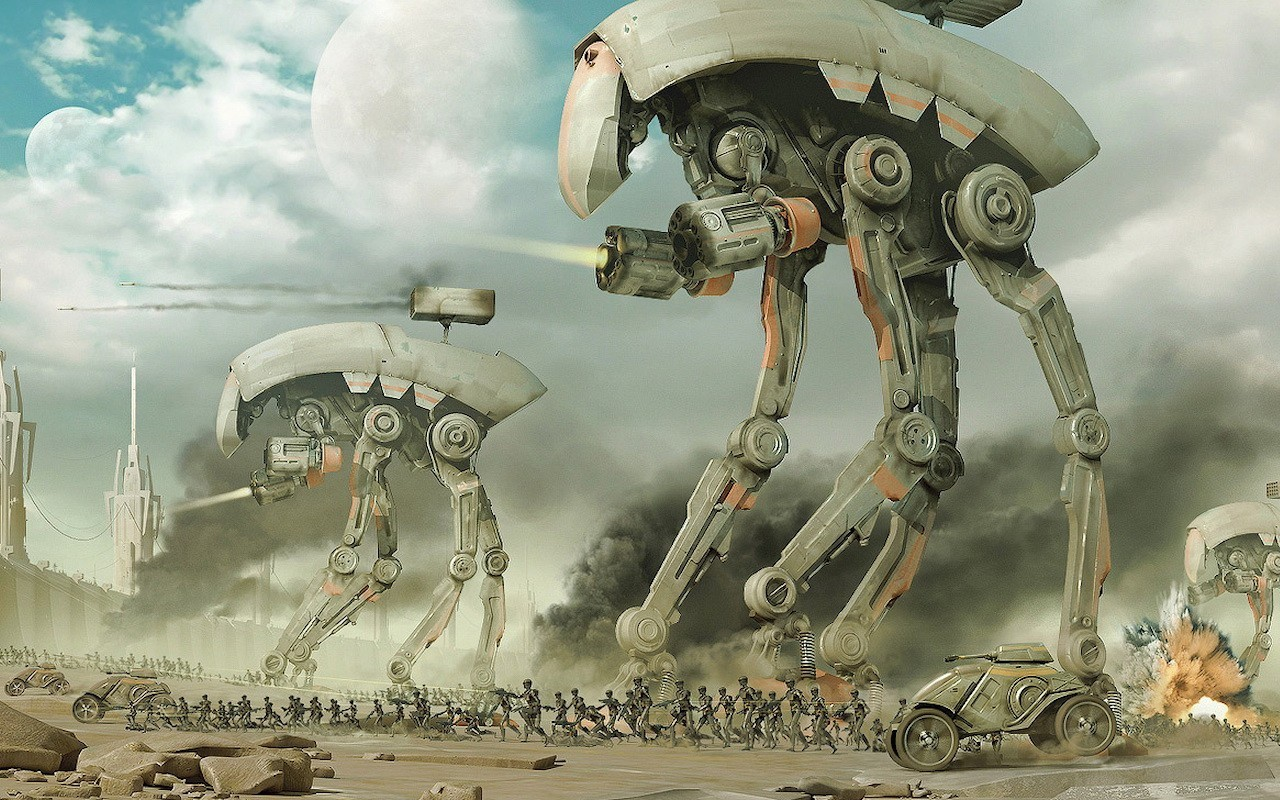 26326 Screensavers and Wallpapers Robots for phone. Download Fantasy, Robots, Weapon pictures for free