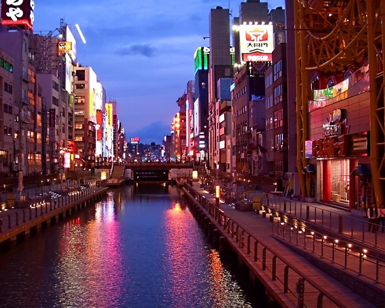 13930 скачать обои Города, Вода, Река, Ночь, Архитектура - заставки и картинки бесплатно