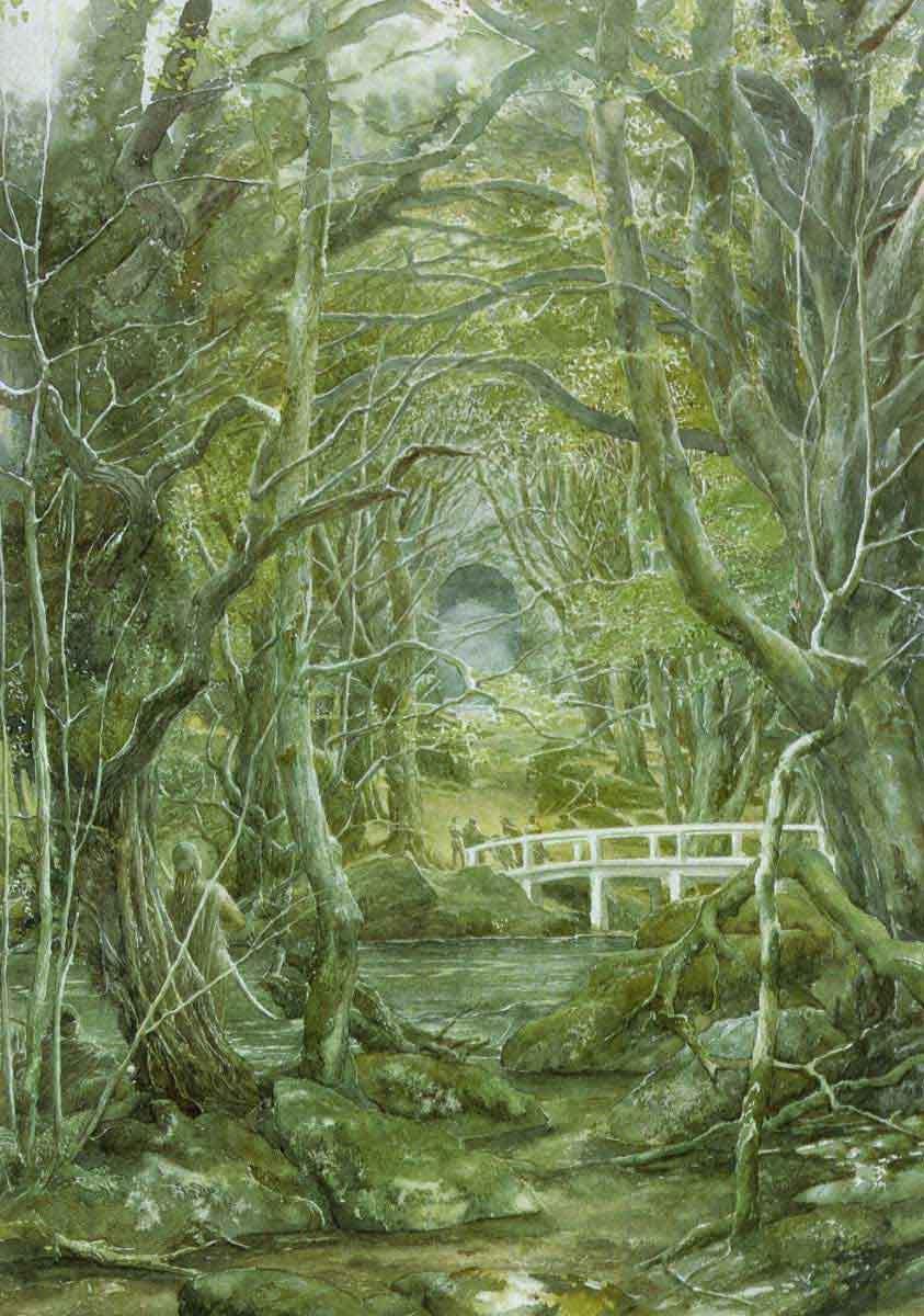 19317 скачать обои Пейзаж, Река, Мосты, Деревья, Фэнтези, Властелин Колец (The Lord Of The Rings) - заставки и картинки бесплатно