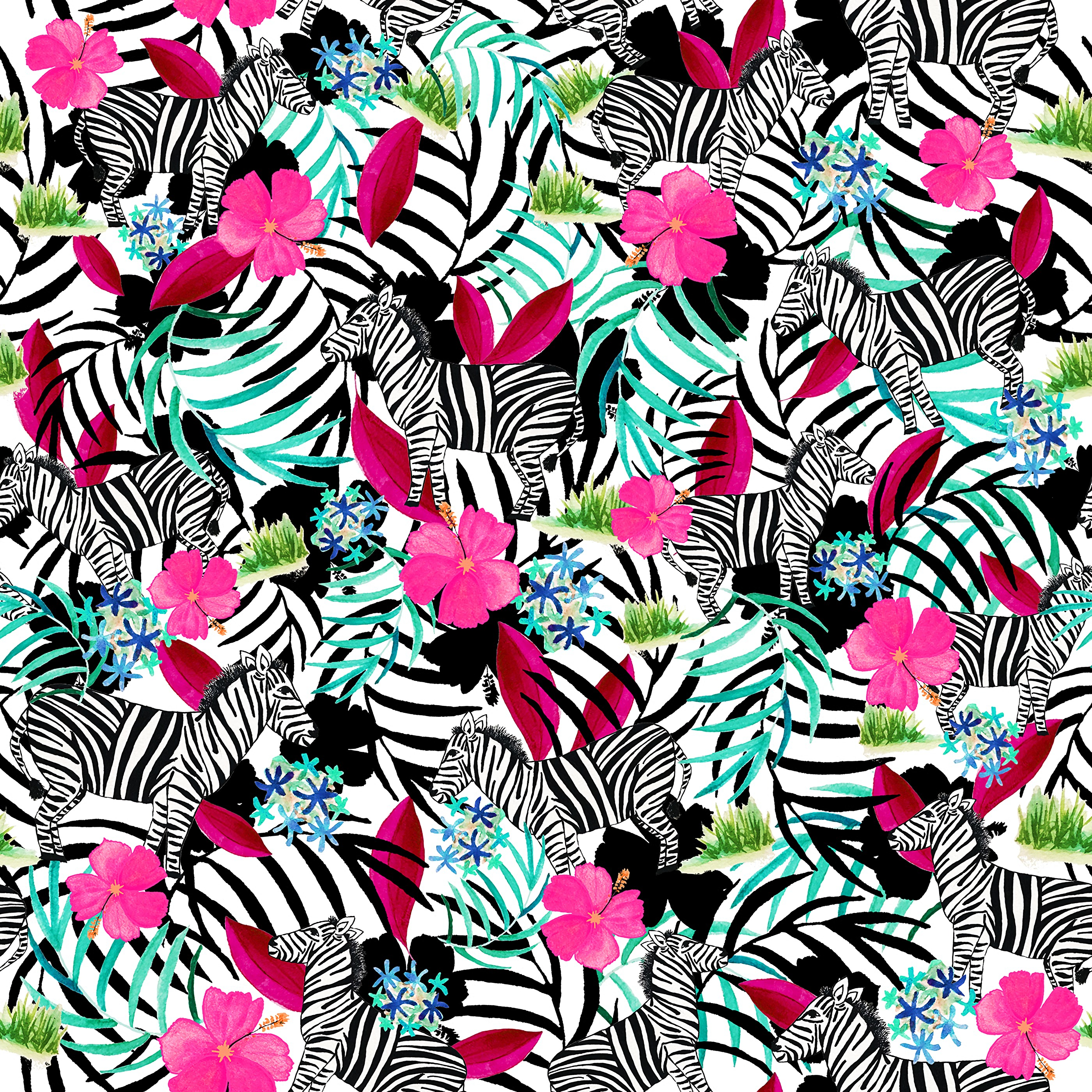 134692 download wallpaper Textures, Texture, Pattern, Leaves, Flowers, Zebra screensavers and pictures for free