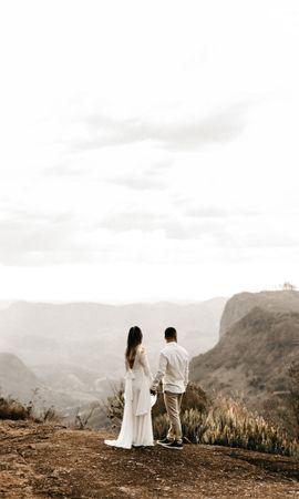 121241 Заставки и Обои Свадьба на телефон. Скачать Пара, Любовь, Романтика, Свадьба, Горы картинки бесплатно