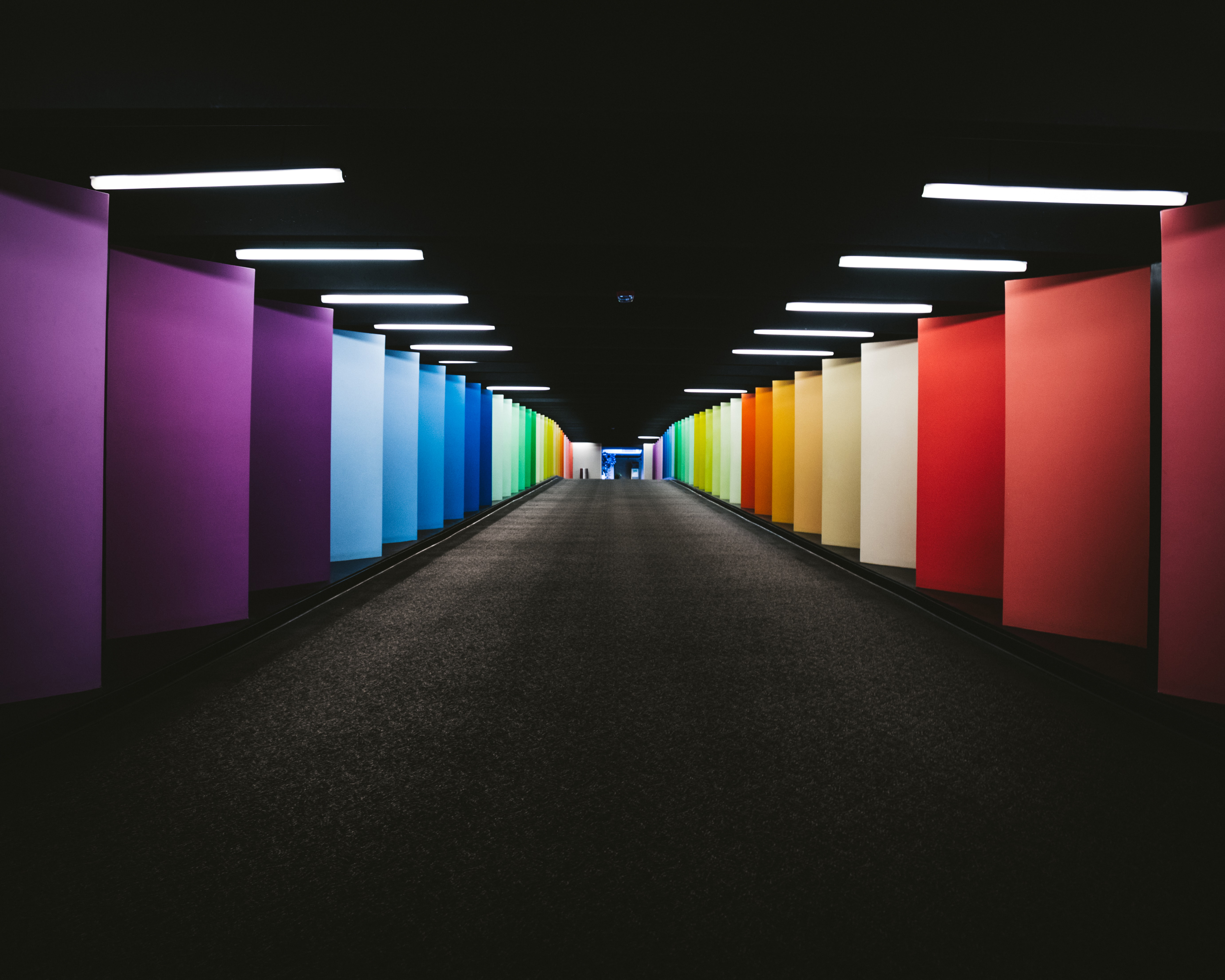 69354 download wallpaper Walls, Miscellanea, Miscellaneous, Multicolored, Motley, Tunnel screensavers and pictures for free