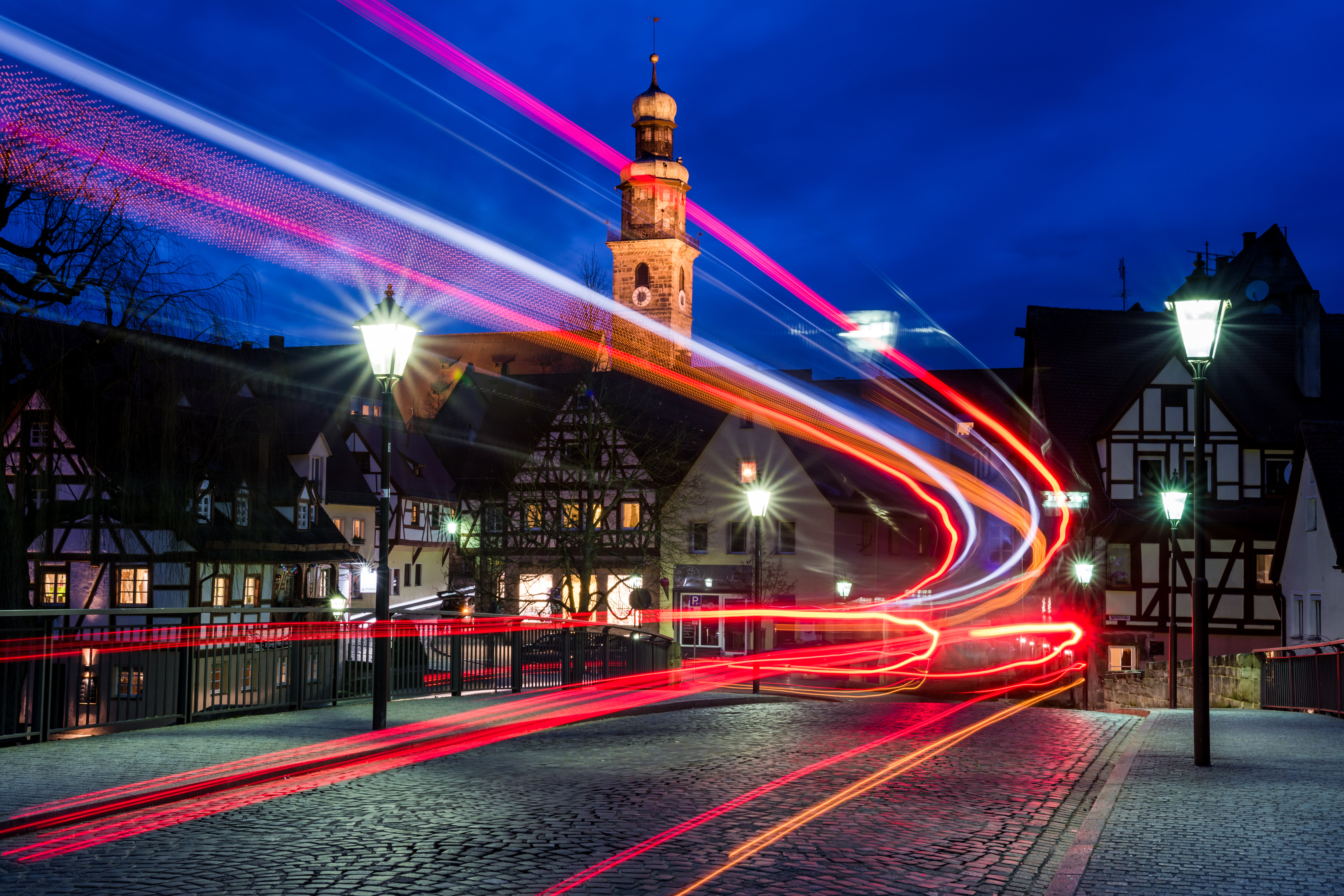125878 download wallpaper Lights, Long Exposure, Traffic, Movement, Turn, Night, Cities screensavers and pictures for free