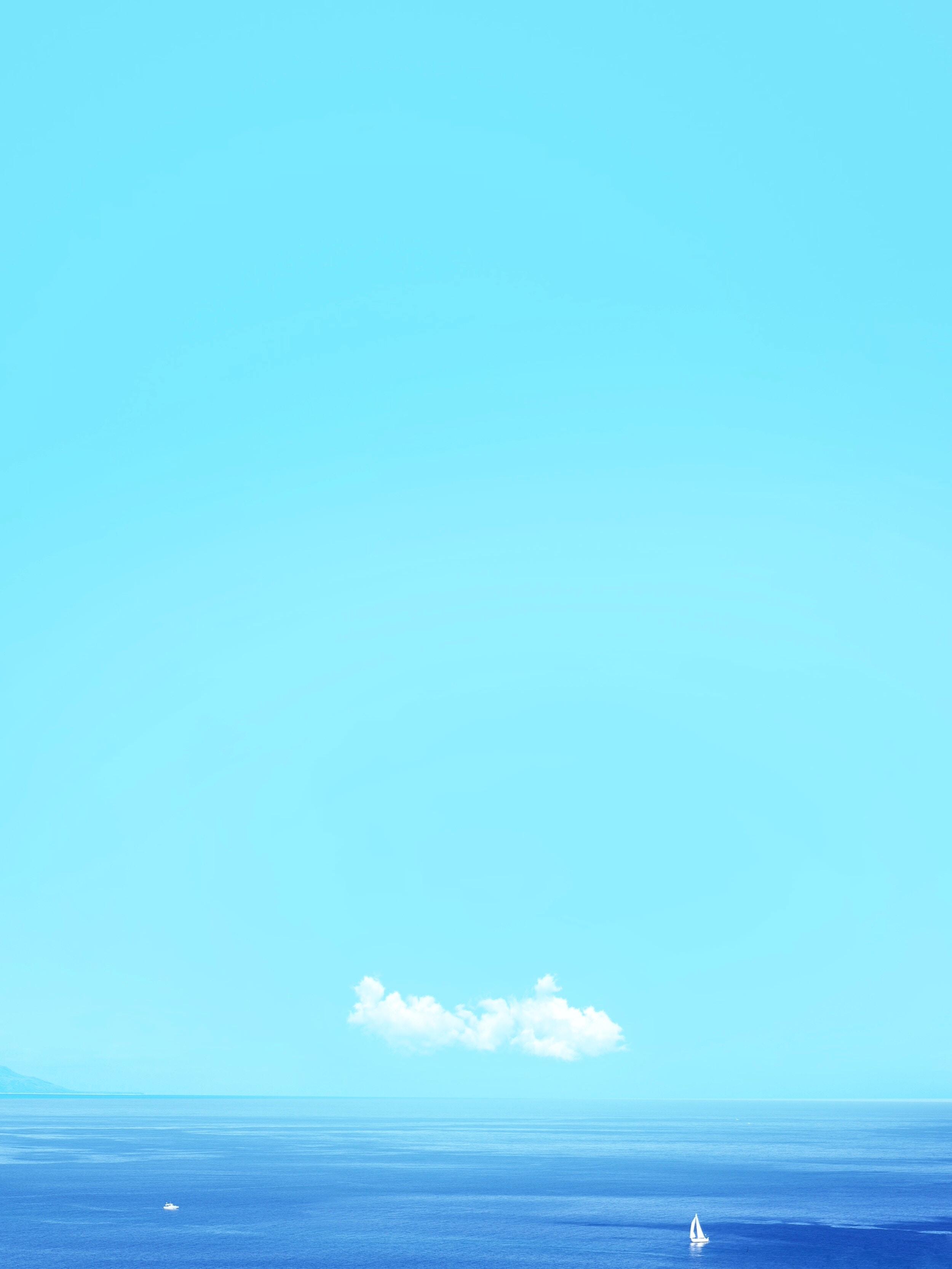 144938 免費下載壁紙 极简主义, 海, 地平线, 帆, 帆船, 天空, 水 屏保和圖片