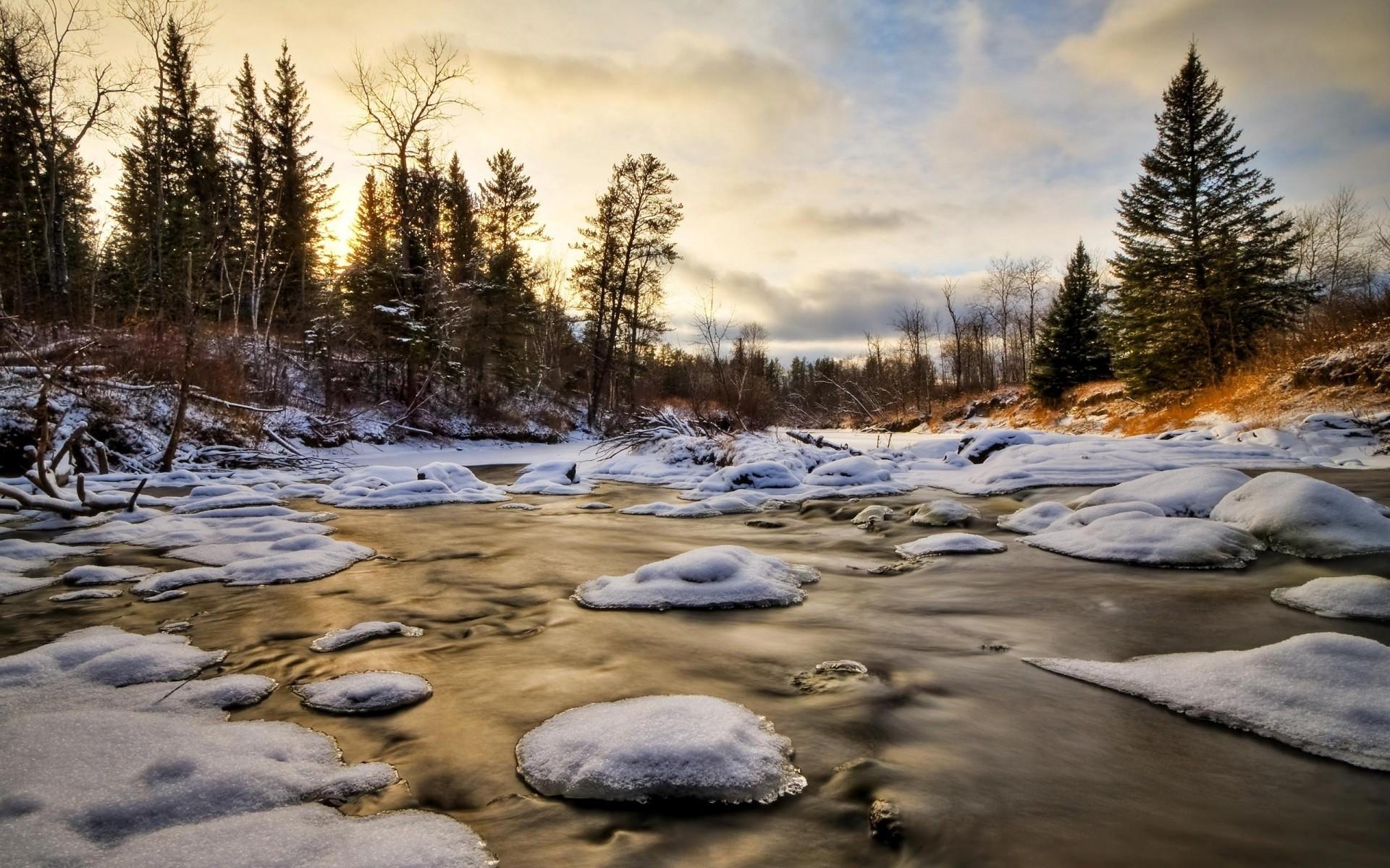 22978 скачать обои Пейзаж, Зима, Река, Деревья, Снег - заставки и картинки бесплатно