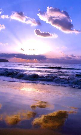 21378 скачать обои Пейзаж, Небо, Море, Солнце, Облака, Пляж - заставки и картинки бесплатно