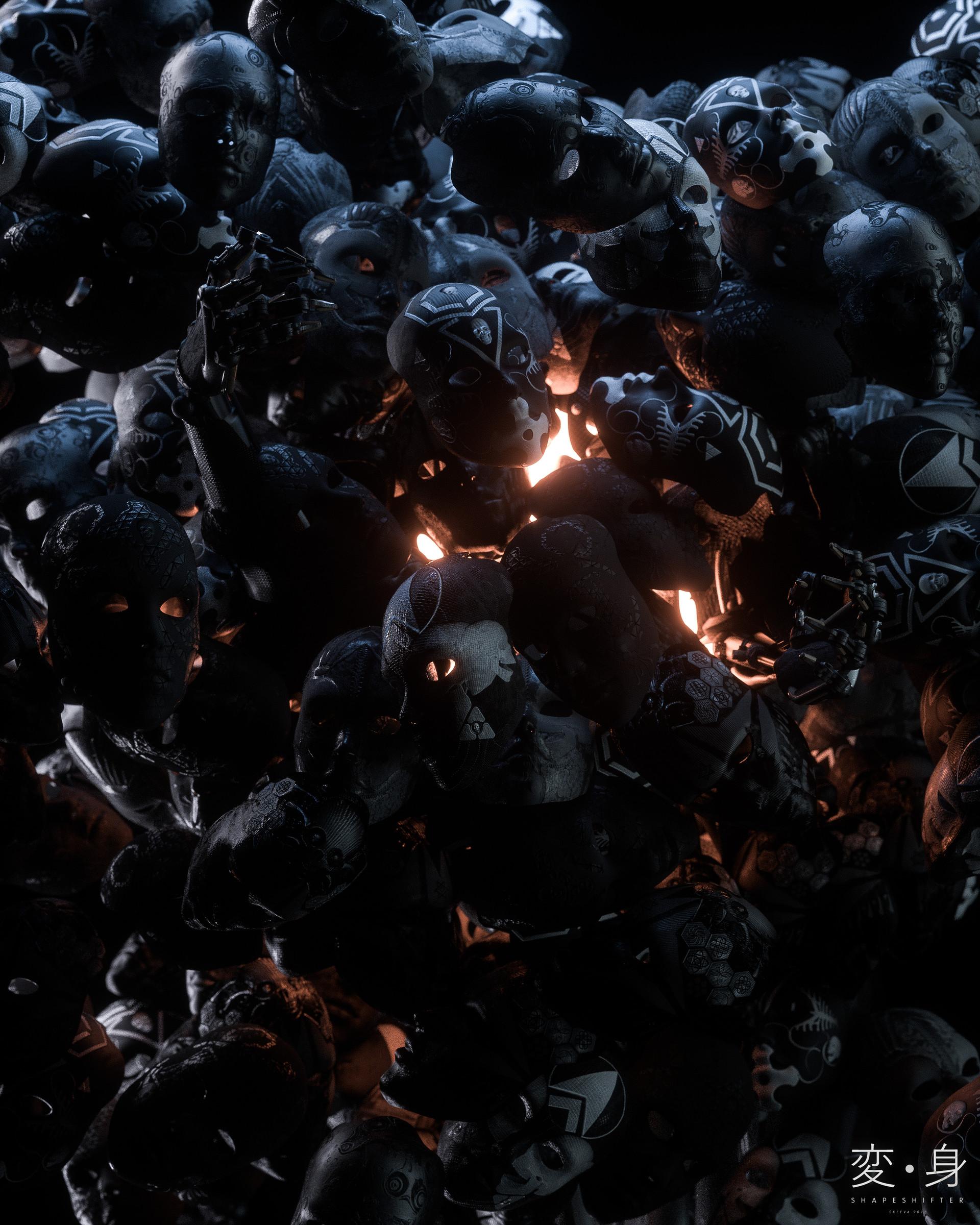 157325 скачать обои Темные, Маски, Арт, Темный, Свет, Блеск - заставки и картинки бесплатно