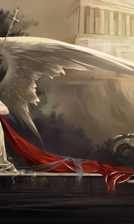 38256 скачать обои Ангелы, Рисунки - заставки и картинки бесплатно